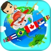 Geography Quiz Game 3D Icon Image