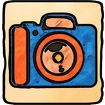 Cartoon Camera Icon Image