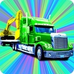 Heavy Equipment Transport Icon Image