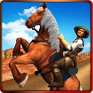Texas Wild Horse Race 3D icon