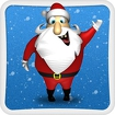 Santa Claus and The Snowman Icon Image