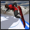 Snowboard Freestyle Mountain Icon Image