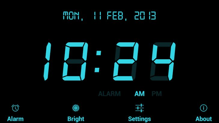 цифровые часы заставка на телефон № 56948  скачать