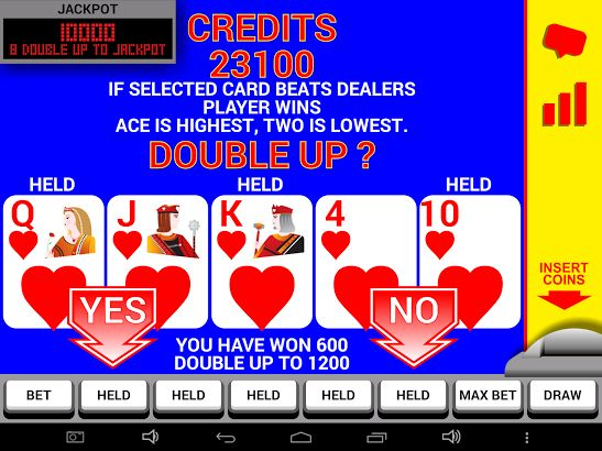 video poker double up game